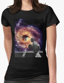 Watch me universe  Womens Fitted T-Shirt