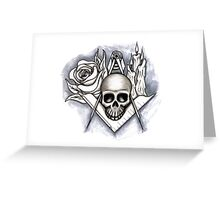 Memento Mori - Square and Compass Greeting Card