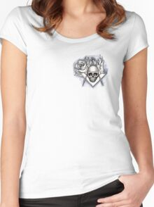 Memento Mori - Square and Compass Women's Fitted Scoop T-Shirt