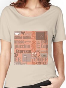 Texture of Coffee.Seamless Women's Relaxed Fit T-Shirt