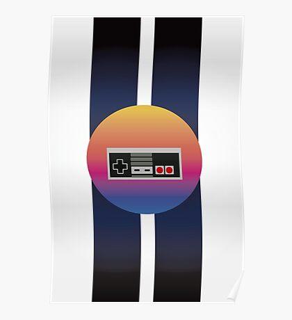 Retrowave Controller Poster
