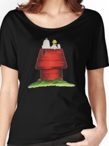 sleeping snoopy Women's Relaxed Fit T-Shirt