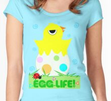 "Spring Chicken ""Egg Life"" Women's Fitted Scoop T-Shirt"