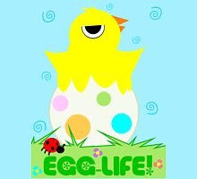 """Spring Chicken """"Egg Life"""" Women's Fitted Scoop T-Shirt"""