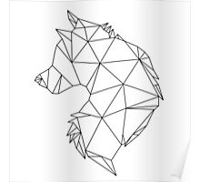 Geometric Wolf Poster