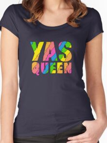 YAS QUEEN - Broad City Style Women's Fitted Scoop T-Shirt