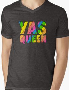 YAS QUEEN - Broad City Style Mens V-Neck T-Shirt