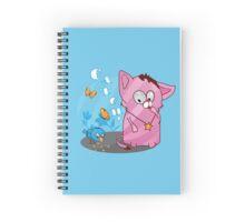 Cute funny kitten with bird Spiral Notebook