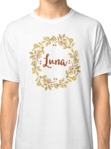 Luna lovely name and floral bouquet wreath Classic T-Shirt