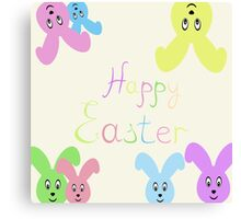Happy Easter Easter bunnies,vector illustration Canvas Print