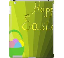 holiday Easter basket with eggs on the background iPad Case/Skin