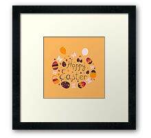 bright colorful Easter greeting card,vector illustration Framed Print