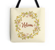 Helena lovely name and floral bouquet wreath Tote Bag