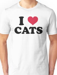 I Love Cats Quote Unisex T-Shirt