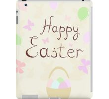 holiday Easter basket with balloons and butterflies,vector illustration iPad Case/Skin