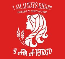 Virgo-always right Womens Fitted T-Shirt