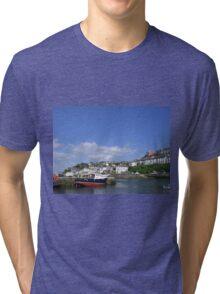 Brixham Harbour, Devon Tri-blend T-Shirt
