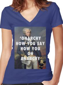 'Onarchy? Women's Fitted V-Neck T-Shirt