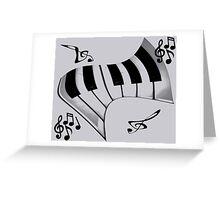 Piano and Notes Greeting Card