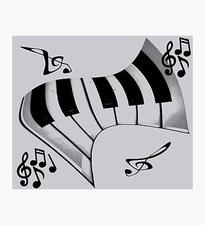 Piano and Notes Photographic Print