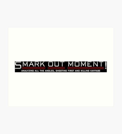 Smark Out Moment Logo (Silver) Art Print