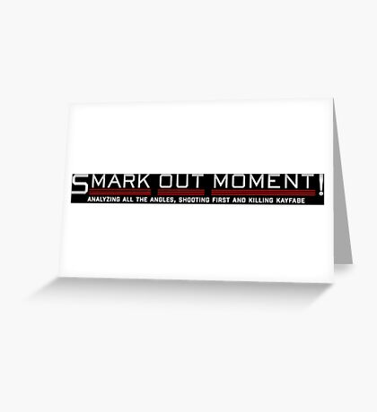 Smark Out Moment Logo (Silver) Greeting Card