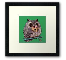 Owl and Mouse Framed Print