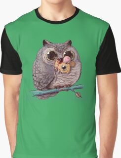 Owl and Mouse Graphic T-Shirt