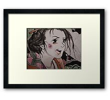 geisha anime  Framed Print