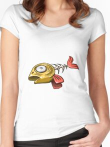 Dead fish skeleton Women's Fitted Scoop T-Shirt