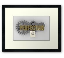 Perfection (out of order) Framed Print