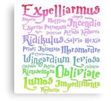 Harry potter magic spells Canvas Print