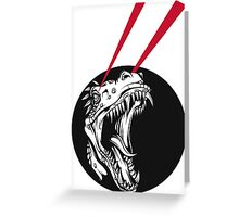 Dinosaur uprising Greeting Card