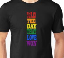 Gay day-love won Unisex T-Shirt