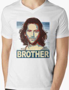 Lost - Desmond Brother Mens V-Neck T-Shirt