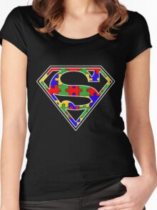 Autism Awareness Super Hero Shirt Women's Fitted Scoop T-Shirt