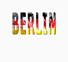 Berlin Word With Flag Texture Classic T-Shirt