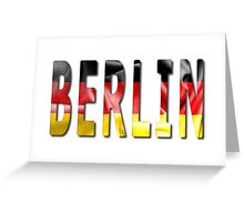 Berlin Word With Flag Texture Greeting Card