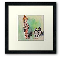 Penguin princess Framed Print