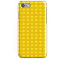 Lego (yellow) iPhone Case/Skin