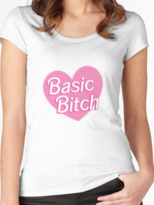 Basic Bitch Purple Women's Fitted Scoop T-Shirt