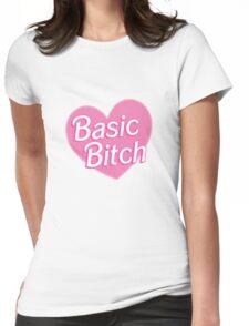 Basic Bitch Purple Womens Fitted T-Shirt