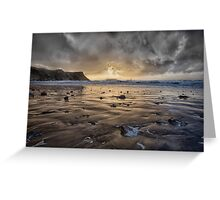Thunder at Rhossili Bay Greeting Card