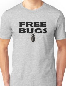 Bugs T-Shirt Insect Stickers Fun Free Hugs Comedy Tee Unisex T-Shirt