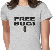 Bugs T-Shirt Insect Stickers Fun Free Hugs Comedy Tee Womens Fitted T-Shirt