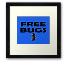 Bugs T-Shirt Insect Stickers Fun Free Hugs Comedy Tee Framed Print
