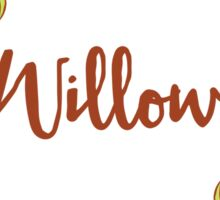 Willow lovely name and floral bouquet wreath Sticker