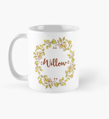 Willow lovely name and floral bouquet wreath Mug