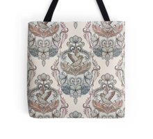 Woodland Birds - hand drawn vintage illustration pattern in neutral colors Tote Bag