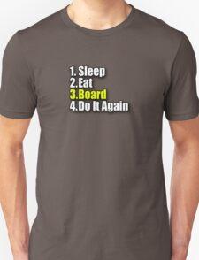 Eat Sleep Board T-Shirt Sticker - Skateboard Snowboard Surfboard T-Shirt